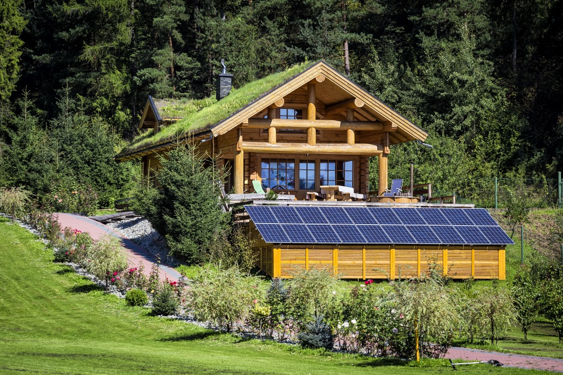 off grid solar powered eco-house