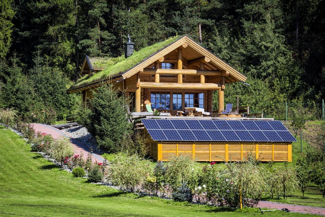 off grid solar powered eco-house