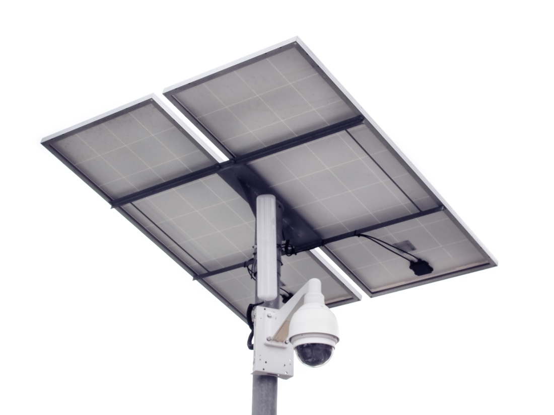 solar pv powered dome cctv
